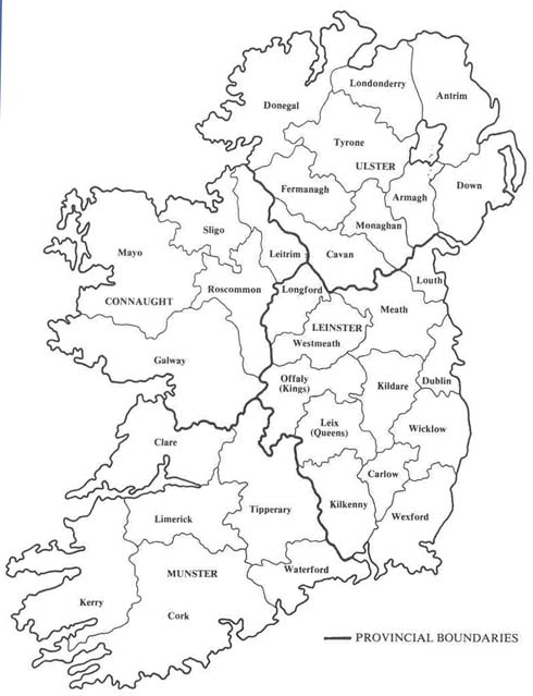 Maps By Theme Admin To Wind Map Collections At UCD And On The - Ireland provinces map