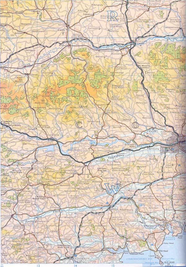 Map of Cork County ordnance survey 1